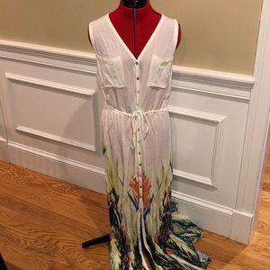 Anthropologie rayon maxi dress